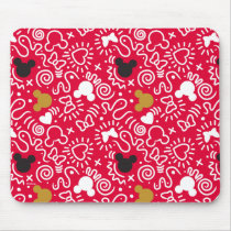 Minnie Mouse | Doodle Pattern Mouse Pad