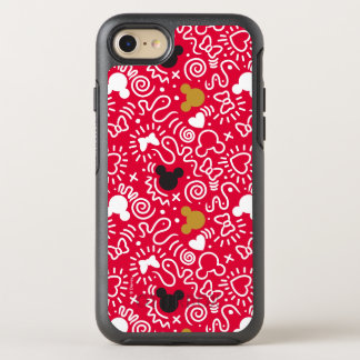 Minnie Mouse | Doodle Pattern OtterBox Symmetry iPhone 7 Case