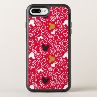 Minnie Mouse | Doodle Pattern OtterBox Symmetry iPhone 8 Plus/7 Plus Case