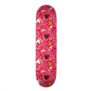 Disney Themed Minnie Mouse | Doodle Pattern Skateboard