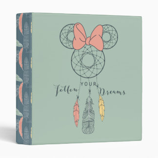 Minnie Mouse Dream Catcher | Follow Your Dreams 3 Ring Binder