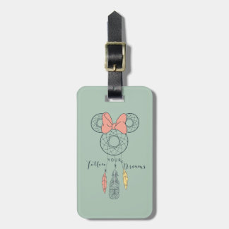 Minnie Mouse Dream Catcher | Follow Your Dreams Bag Tag