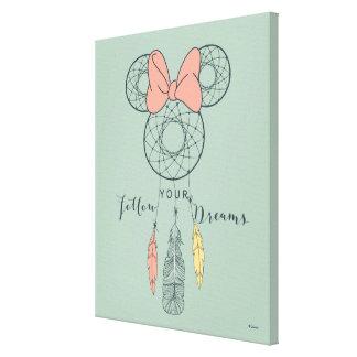 Minnie Mouse Dream Catcher | Follow Your Dreams Canvas Print
