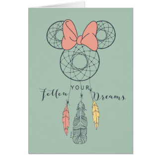 Minnie Mouse Dream Catcher | Follow Your Dreams Card