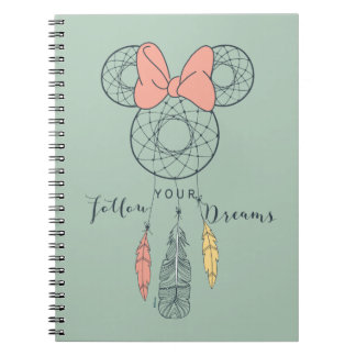 Minnie Mouse Dream Catcher | Follow Your Dreams Notebook