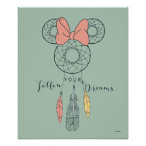 Minnie Mouse Dream Catcher | Follow Your Dreams Poster