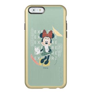 Minnie Mouse el | nunca para el explorar Funda Para iPhone 6 Plus Incipio Feather Shine