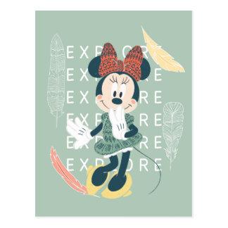 Minnie Mouse el | nunca para el explorar Postal