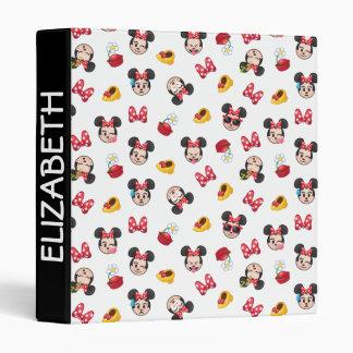 Minnie Mouse Emoji Pattern Binder