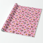 Minnie Mouse Emoji Pattern Wrapping Paper