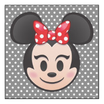 Minnie Mouse Emoji Wood Wall Art