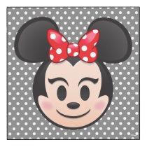Minnie Mouse Emoji Wood Wall Art