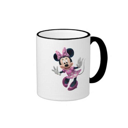Minnie Mouse en rosa Tazas De Café