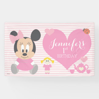Minnie Mouse | First Birthday Banner