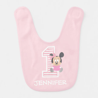 Minnie Mouse | First Birthday Bib
