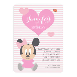Minnie mouse invitations zazzle minnie mouse first birthday invitation filmwisefo