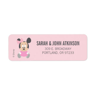 Minnie Mouse | First Birthday Label