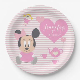 Minnie Mouse | First Birthday Paper Plate