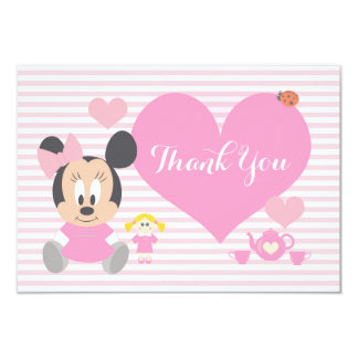 Minnie Mouse | First Birthday Thank You Card