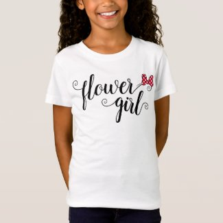 Minnie Mouse | Flower Girl T-Shirt