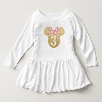 Minnie Mouse | Gold & Pink Birthday Dress