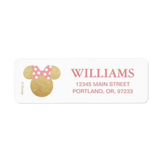 Gold & Pink Birthday Label
