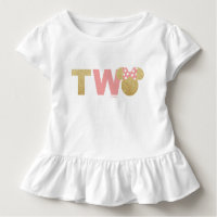 Minnie Mouse   Gold & Pink Second Birthday Toddler T-shirt