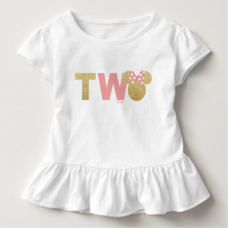 Minnie Mouse | Gold & Pink Second Birthday Toddler T-shirt