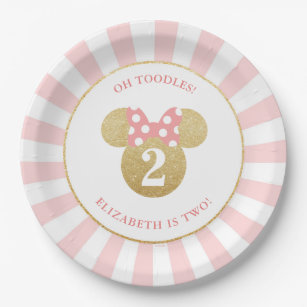 Pink Gold Birthday Party Supplies Zazzle