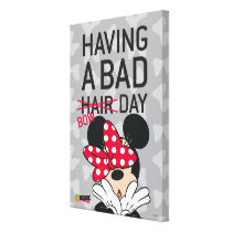 Minnie Mouse | Having a Bad Bow Day Canvas Print
