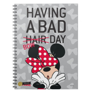 Minnie Mouse | Having a Bad Bow Day Notebook