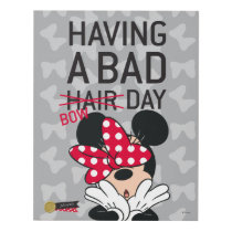 Minnie Mouse | Having a Bad Bow Day Panel Wall Art