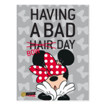 Minnie Mouse   Having a Bad Bow Day Postcard