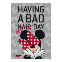Minnie Mouse | Having a Bad Bow Day Poster