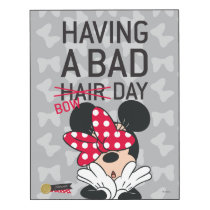Minnie Mouse | Having a Bad Bow Day Wood Wall Art
