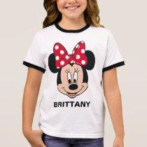 Minnie Mouse | Head Logo Ringer T-Shirt
