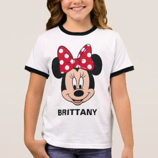 Minnie Mouse | Head Logo Ringer T-Shirt