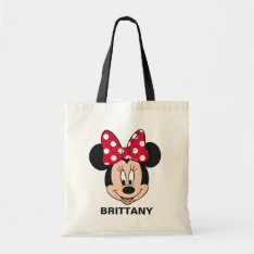 Minnie Mouse | Head Logo Tote Bag at Zazzle