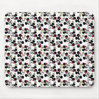 Minnie Mouse Head Pattern Mouse Pad