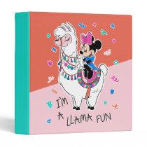 Minnie Mouse   I'm A Llama Fun 3 Ring Binder
