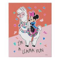 Minnie Mouse   I'm A Llama Fun Faux Canvas Print