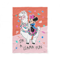 Minnie Mouse   I'm A Llama Fun Fleece Blanket