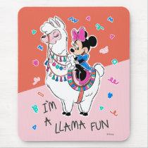 Minnie Mouse   I'm A Llama Fun Mouse Pad