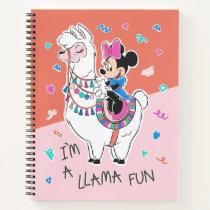 Minnie Mouse   I'm A Llama Fun Notebook