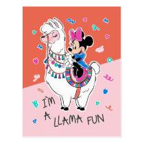 Minnie Mouse   I'm A Llama Fun Postcard