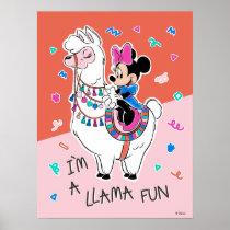 Minnie Mouse   I'm A Llama Fun Poster