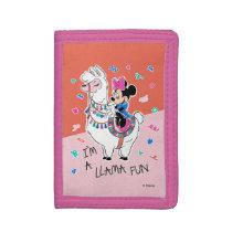 Minnie Mouse   I'm A Llama Fun Trifold Wallet