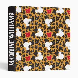 Minnie Mouse | Leopard Pattern 3 Ring Binder
