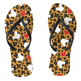 Minnie Mouse | Leopard Pattern Flip Flops