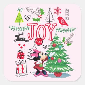 Minnie Mouse   Minnie's Christmas Joy Square Sticker